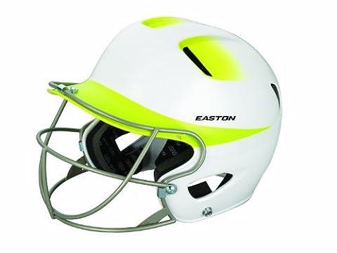 Easton Senior Natural 2Tone Batting Helmet with Softball Mask, White/Yellow by Easton