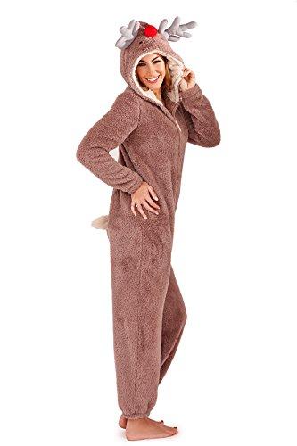 ZI25 Onezee Damen Overall Jumpsuit Einteiler Anzug Tier Kostüm Renntier L