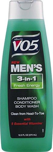 3 Pk, Alberto VO5 Men's 3-in-1 Shampoo Conditioner Body Wash Fresh Energy, 12.5oz by V05