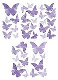 Wandtattoo Wandsticker Set Schmetterlinge Aquarell Stück zum Kleben Wandtattoo