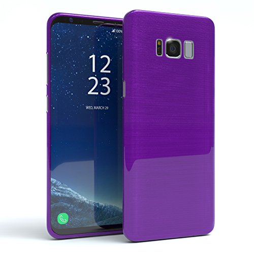 "EAZY CASE Handyhülle für Samsung Galaxy S8 Plus Hülle - Premium Handy Schutzhülle Slimcover ""Brushed"" Aluminium Design - TPU Silikon Backcover in brushed Lila Brushed Lila"