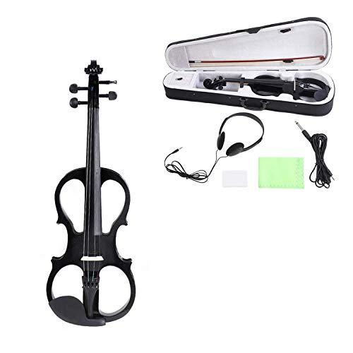 Elettrica Violino Kit 4/4 Full Size Silenzioso Violino Elettrico Legno Acero Violino Strumento a Corda