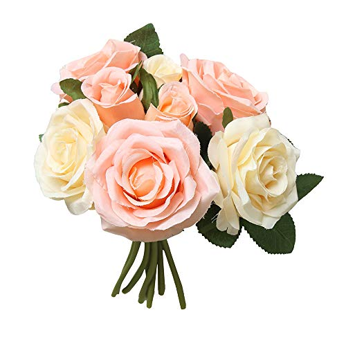 Yazidan 8Stücke Künstliche Gefälschte Rosen Blume Brautstrauß Hochzeit Home Decor Künstliche Seide Rosen Blütenköpfe Blumen-Köpfe Hochzeit Parteidekor Bulk Brautstrauß Hochzeitsfeier Home Decor\\n