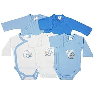 5er Pack Baby Jungen Bodys Wickelbodys Langarm Baumwolle ABY Gr. 62 (3M)