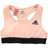 Adidas niña Alpha Skin–Sujetador Deportivo con Ligero Soporte, Niñas, DJ1082, Clear Orange/Black, 152