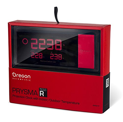 Oregon Scientific RMR221P Reloj proyector, Rojo, 2x20x8 cm