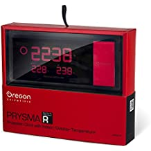 Oregon Scientific RMR-221-P - Reloj proyector, temperatura interior / exterior, color rojo