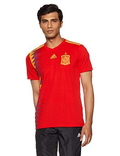 adidas Herren Spanien Heim Replica Trikot, Red/Bold Gold, M