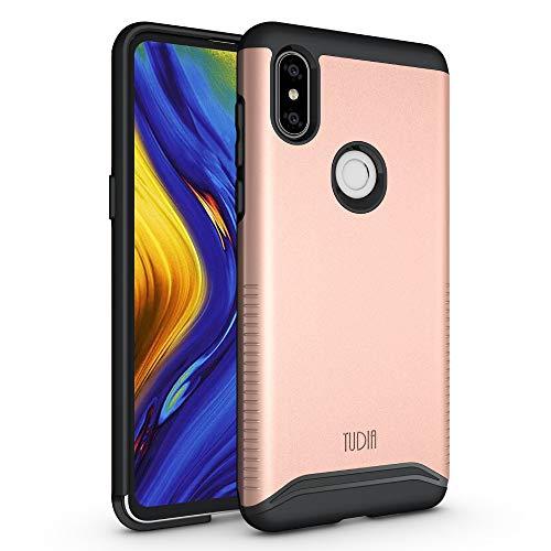 TUDIA Xiaomi Mi Mix 3 Estuche, Slim-Fit [Merge] Extreme Protección/Estuche de Doble Capa Resistente Pero Delgado para Xiaomi Mi Mix 3 (Oro Rosa)