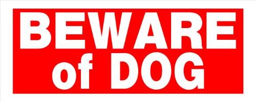 Hillman 841794BEWARE OF DOG Zeichen, rot und weiß Kunststoff, 15,2x 38,1cm 1-sign