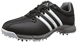 adidas 360 Traxion, Unisex-Kinder Golfschuhe, Schwarz (Core Black/White/Iron Met), Gr. 37 1/3 EU (4.5 UK)