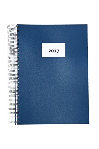 Preisvergleich Produktbild 2017 dicker TageBuch Kalender DEEP BLUE - Spiralbindung - 365 Tage = 365 DIN A4-Seiten mit stabilem, blauen Einband