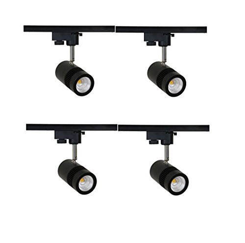 Glitz Led Spot Track Light 9W Warm White. Black Body, 2700K Finest Quality, Bright Light. Set Of 4 Pcs