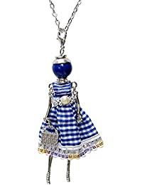 47b01739aab1 Collier sautoir pendentif élégante poupée robe ...