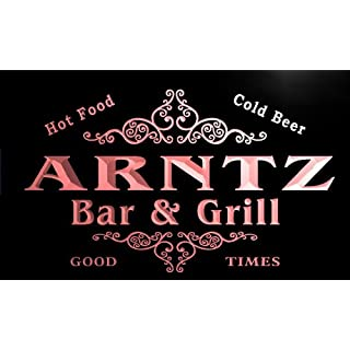 u01350-r ARNTZ Family Name Bar & Grill Cold Beer Neon Light Sign Barlicht Neonlicht Lichtwerbung