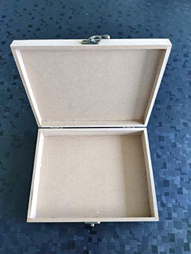 Kreatish DIY Rectangular MDF Multipurpose Box (9 by 7 by 2 inch)