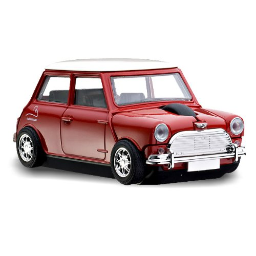 MotorMouse - Wireless USB-Maus - Funkmaus - Mini Cooper - Rot
