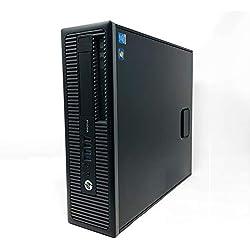 HP ProDesk 600 G1 SFF - Ordenador de sobremesa (Intel Core I5-4570 3.2 GHz, 8GB de RAM, Disco HDD 500GB, Lector DVD, Windows 10 Pro) Negro (Reacondicionado)