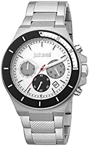 Just Cavalli Sport Silver Dial Stainless Steel Analog Watch For Men JC1G139M0055