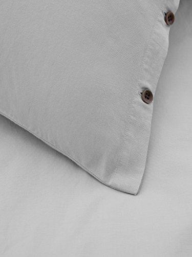 Marc O\'Polo Washed Linen Leinen-Bettwäsche 155x220 + 80x80 Silver