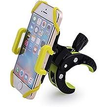 Lenuo Soporte Móvil para Bicicleta con Diseño de Bola Giratorio de 360 Grados para iPhone 6s Plus, iPhone 6, Samsung S6 Edge, Google Nexus, LG, HTC y Dispositivos GPS, Color Negro + Verde
