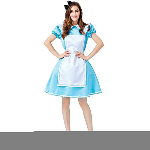 COSOER Alice Im Wunderland Maid Cosplay Kostüm Halloween Female - Alice Im Wunderland Kostüm Kleinkind