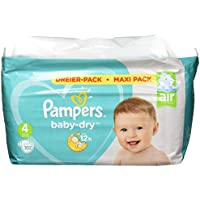 Pampers Baby Dry taille 4, 102couches Lot de, pour respirants Sécheresse, 1er Pack (1x)
