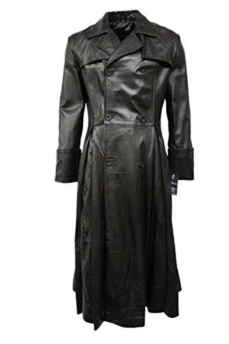 Smart Range - Morpheus Pleine Longueur Matrix Cuir Veste Manteau - Homme - Taille : M - Couleur : Noir