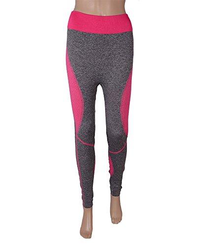 T&M Sports Grey Pink Lycra Leggings