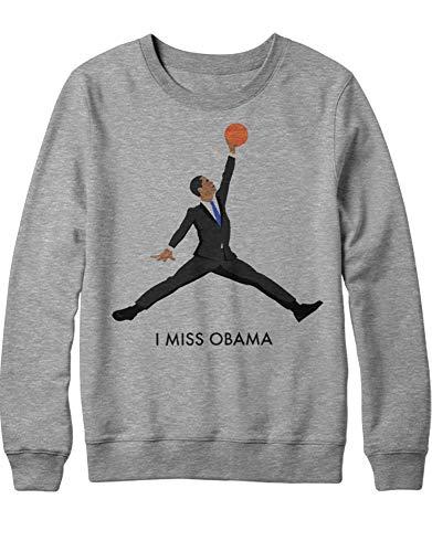 HYPSHRT Herren Sweatshirt I Miss Obama C001064 Grau ()