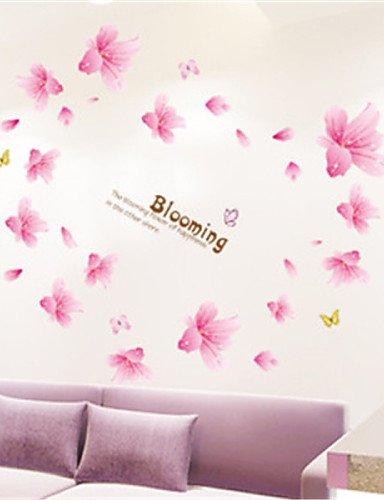 wand-sticker-wand-aufkleber-lily-bloom-pvc-wandtattoo-aufkleber