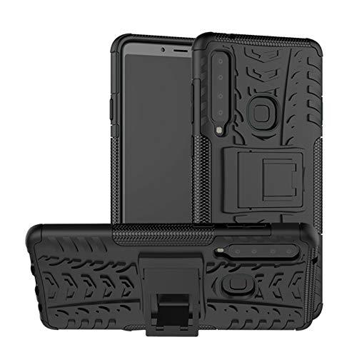 betterfon   Outdoor Handy Tasche Hybrid Case Schutz Hülle Panzer TPU Silikon Hard Cover Bumper für Samsung Galaxy A9 (2018) Schwarz Hybrid Tpu-hülle