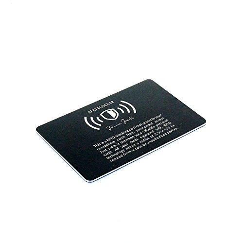 Jaimie Jacobs ® RFID-Schutz für Kreditkarten (RFID-Blocking, NFC-Blocking, kontaktlose Kreditkarten) (Schwarz)