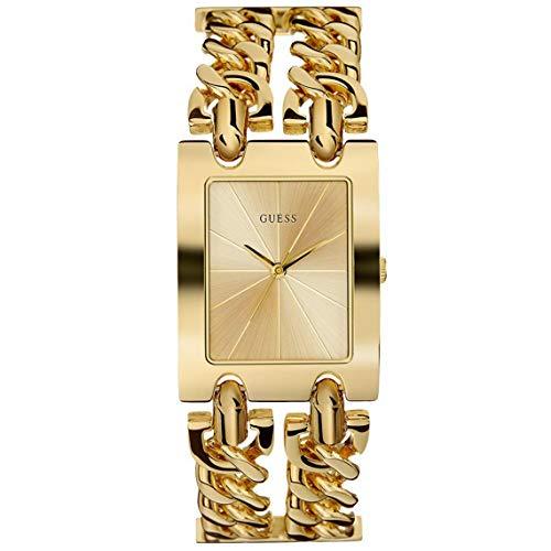 GUESS Reloj Analógico para Mujer de Cuarzo con Correa en Acero Inoxidable W1117L2