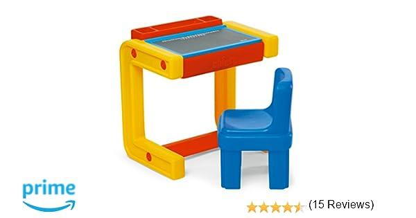 Banco Di Lavoro Chicco : Chicco 30400 banco della scuola con lavagna e sedia: amazon.it