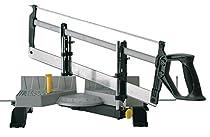 Stanley Gehrungslade aus Metall mit Säge, 560mm Länge, 95mm max. Höhe, 143mm max. Breite, 45°/60°/90°, 1-20-800  Von Stanley