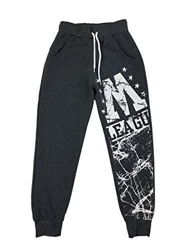 Fashion Warme Bequeme Jogginghose, Freizeithose in dunkel Grau, Gr. 98, J363.2
