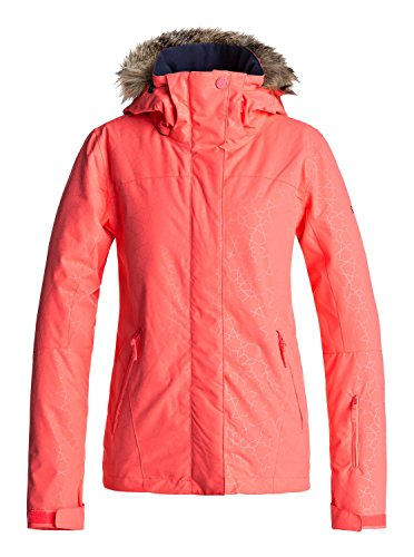 Roxy Jet Ski - Snow Jacket for Women - Snow Jacke - Frauen - L - Rosa (Frauen Rosa Für Ski-jacke)