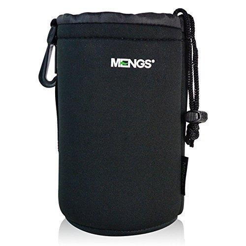 MENGS® Großformatigen (L) High Grade schützenden Neopren Objektivtasche Haken und Gürtelschlaufe - 100x170mm