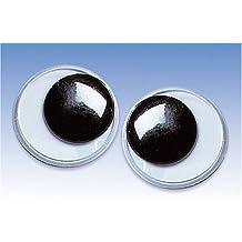 KnorrPrandell 2480409 Wackelaugen, 40 mm Durchmesser, schwarz/weiß