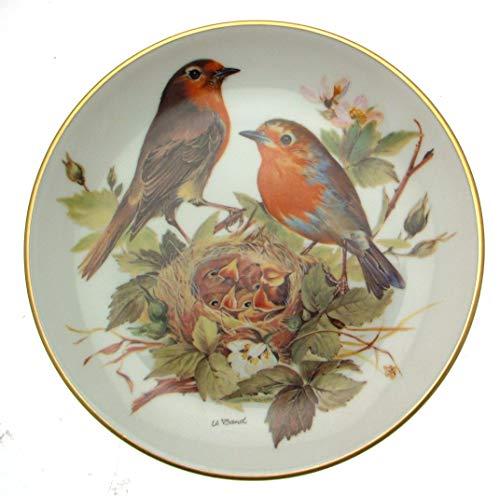 The Bradford Exchange c1986Tirschenreuth Rotkehlchen Europaische Singvogel Ursula Band Red Robin Vögel Europas CP1620 Ursula Bands