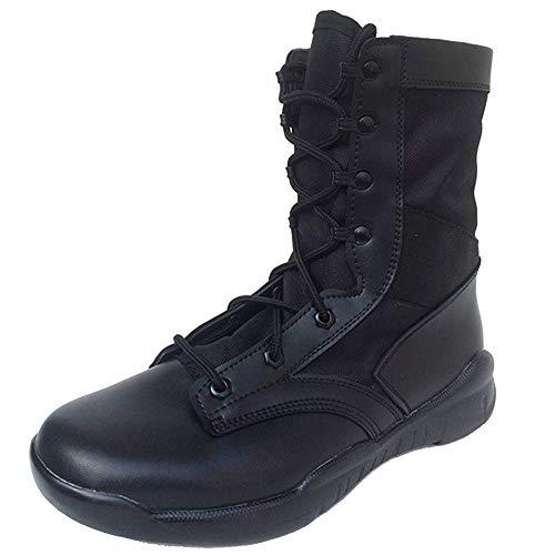 Mens Combat Boots Schutz Polizei Sicherheit Army Cadet Sicherheitsschuhe Womens Combat Biker Boots Low Heel Flache Riemchen Militärische ()