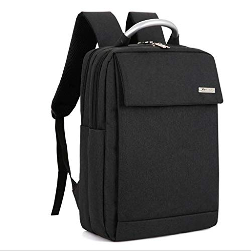 Große Business-Taschen 17-Zoll-Laptop-Rucksack Outdoor-Reiserucksack Große College School Bookbag für Reisen/Business/College/Frauen/Männer (Color : Black)