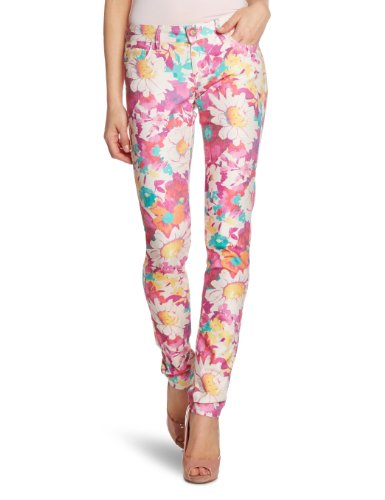 Mavi Damen Jeans, Mehrfarbig (14788 Serena Fushia Daisy Printed), 27/32 Ag Jeans Low Rise Jeans