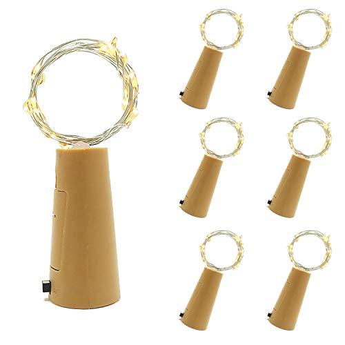 BizoeRade Flaschenlicht,6 Stück 39inch 20 LED Warmweiß Kupferdraht -