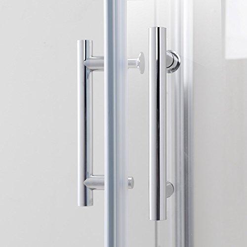 Duschkabine mit Eckeinstieg und Doppelschiebetüren - 7