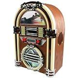 Veka - Gramola Jukebox con radio AM/FM y lector de CD, diseño retro años 60 (incluye altavoz)
