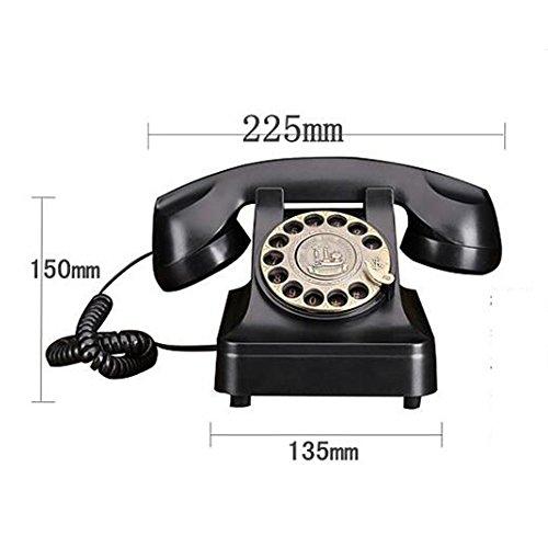 Black Classic Retro 70Er Jahre Retro-Stil Wählscheibe Ground Line Phone Features Mechanische Retro Ringtones - Stecker In Standard-Telefon Outlet