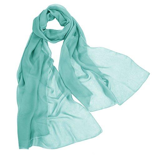 Bbonlinedress Schal Chiffon Stola Scarves in verschiedenen Farben Turquoise 180cmX72cm