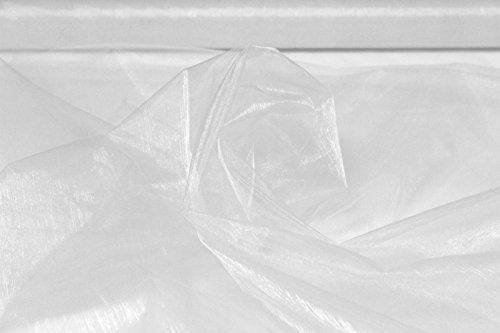 Saum & Viebahn GmbH & Co KG Gardinenstoff Vorhangstoff Glow Muster Abstrakt Creme-weiß Meterware für Gardinen Rollos lichtdurchlässig Polyester Vorhänge Viskose Blickdicht